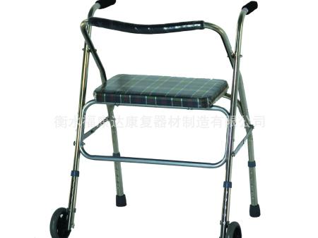 不锈钢推动式带座助行器