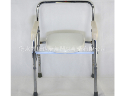 电镀折叠升降betway必威登陆网址靠背坐便椅