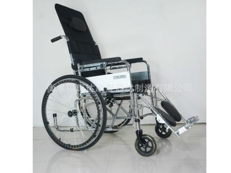电镀高靠背全躺半躺轮椅