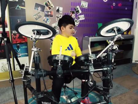现代音符优秀学员 张凯瑞 Drum Cover 《逆战》
