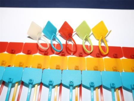 彩色标牌扎带彩色外标牌塑料封条