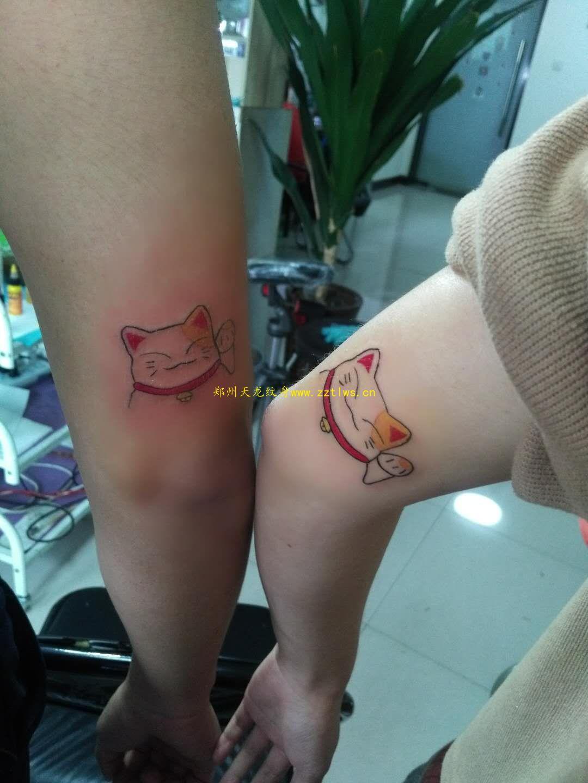 鄭州紋身培訓機構分享小清新紋身作品-情意滿滿的閨蜜紋身