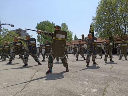 我公司圆满完成本年度青州市民兵应急分队拉动演练任务