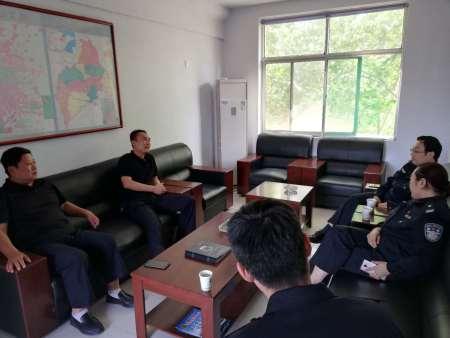 青州保监大队来我公司指导工作,并对青岛峰会安保工作提出要求