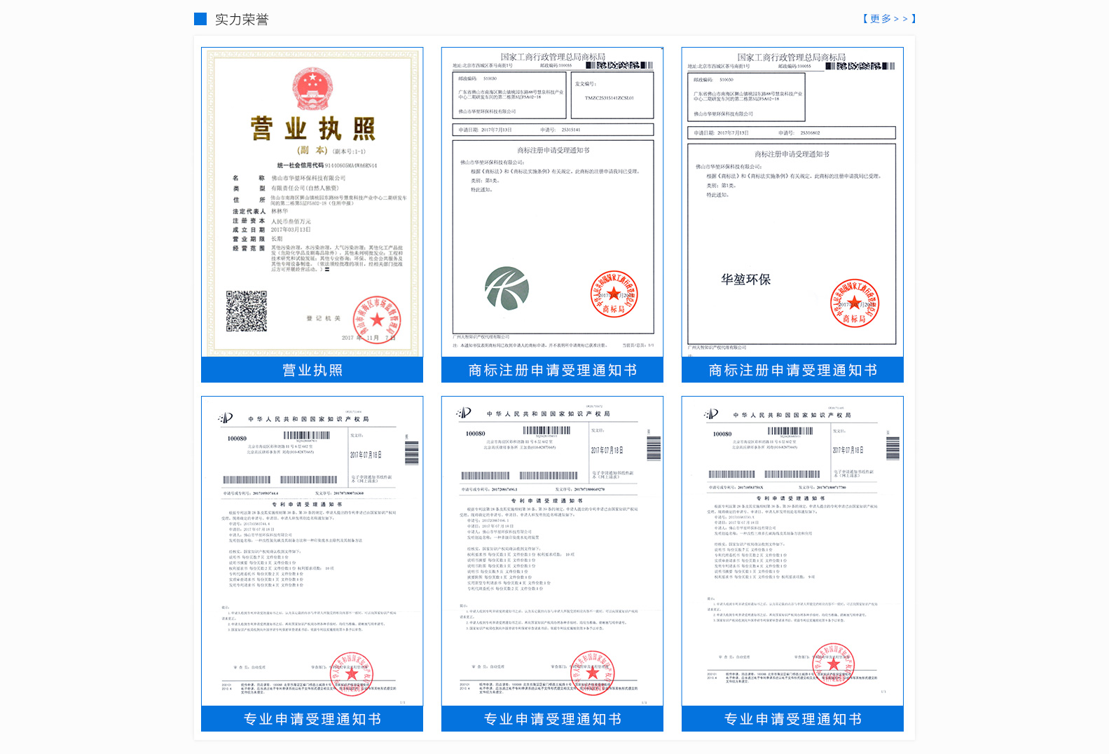 公司决心树立中国环保产业的世界品牌   公司荣誉证书