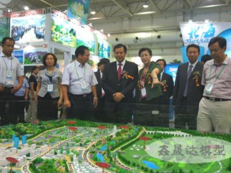 領導觀摩桂臺賀州客家文化產業園模型