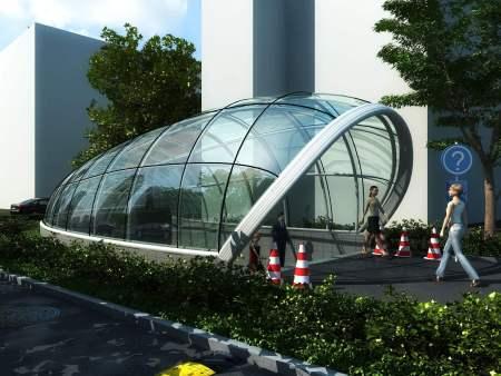 车道玻璃雨棚