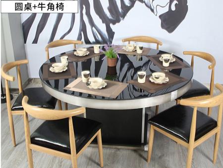广西亚博体育appios定制,圆桌,牛角椅