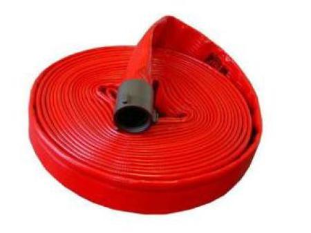 红色消防水带