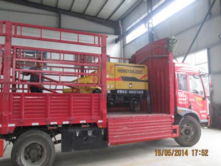 山西15矿用混凝土泵发货