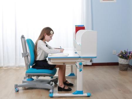白色板豪华包边条三色万博万博体育官网学习桌  SO-D616 蓝色