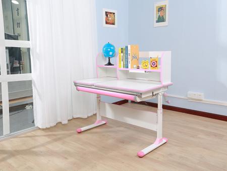 白色板豪华包边条三色万博万博体育官网学习桌 SO-D616 粉色
