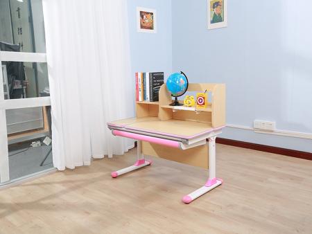颗粒实木枫木花纹板万博万博体育官网学习桌 SO-D616  粉色