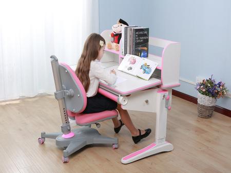 白色板豪华包边条三色万博万博体育官网学习桌  SO-D818 粉色