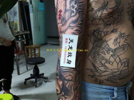天龙纹身店介绍郑州刺青纹身全过程详细介绍