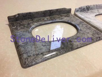 Abstractionuist Grey Marble Bathroom Vanity Tops  Backspalsh|Countertops 厦门信运石进出口有限公司