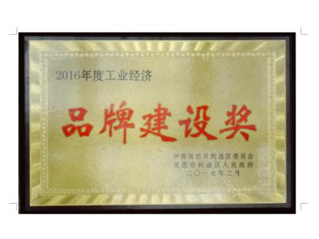 2016年度工业经济品牌建设奖