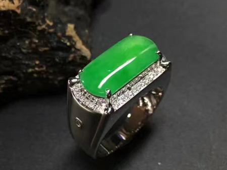 送男友的礼物翡翠男款戒指