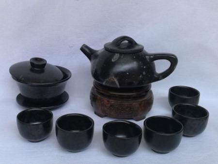 冰碛岩石瓢茶壶套装