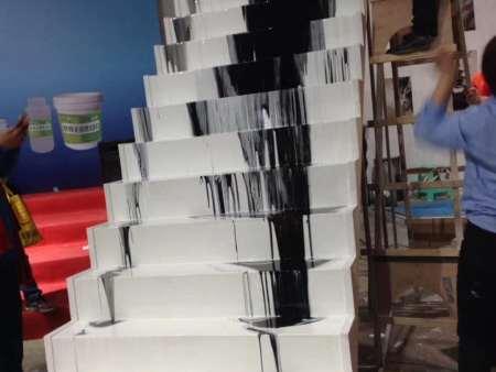 艺术楼梯施工中