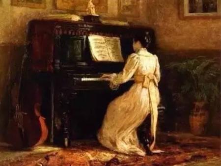 那些油画中的钢琴声