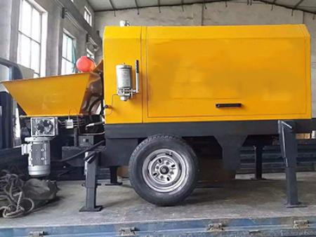 新品混凝土搅拌拖泵的施工流程是怎样?