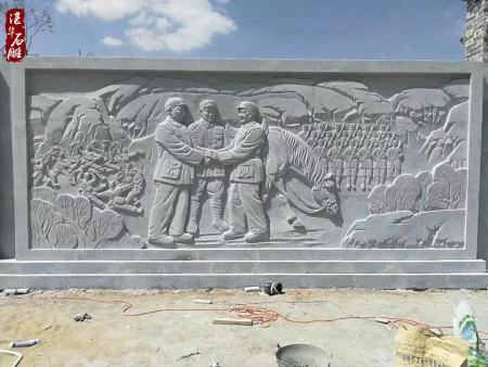 文化广场浮雕施工展示