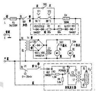 饮水机臭氧发生器原理