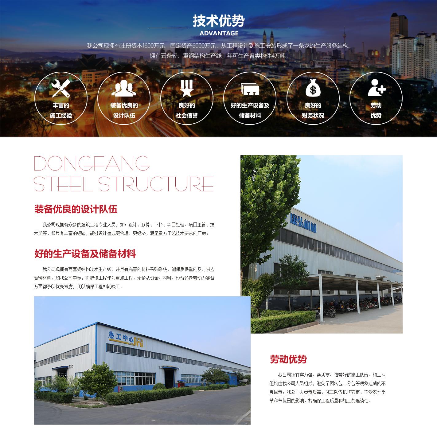 山東東方鋼結構工程有限公司介紹
