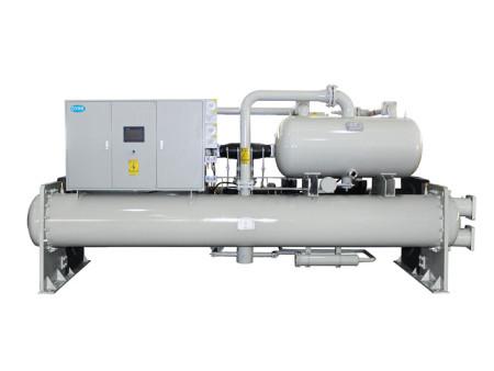 恒温大棚满液式螺杆式水源热泵机组,水产养殖用满液式螺杆式水源热泵机组