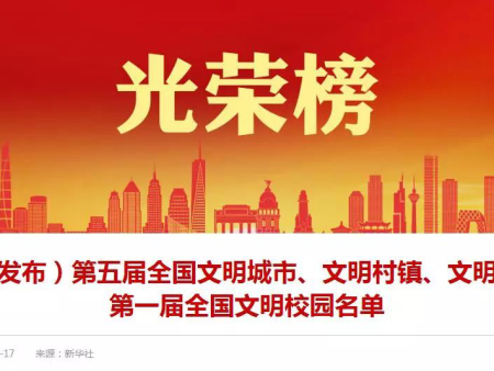 頭條 ▎全國文明單位名單出爐!福建4家電力公司光榮上榜!