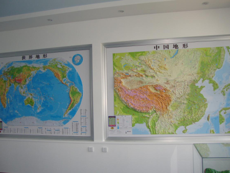 中国地形和世界地形