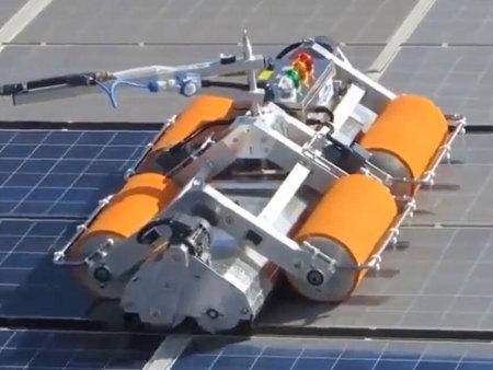 德瑞光伏清潔機器人工程案例4