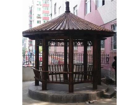 如何辨别丹东防腐木凉亭品质的好坏?