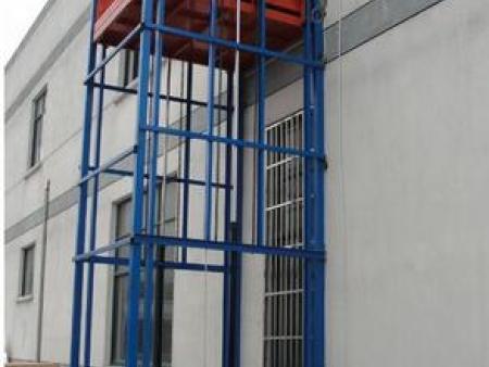 双柱导轨式升降货梯