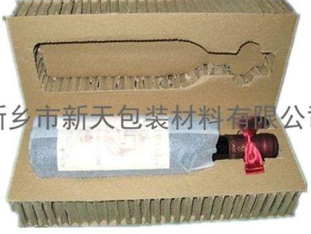 蜂窝纸板用在红酒单瓶、双瓶上的包装