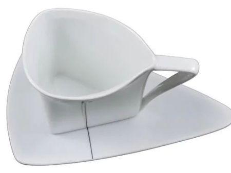 YAMI亚米 三角骨瓷咖啡杯 欧式三角对杯 骨瓷咖啡杯 YM3079