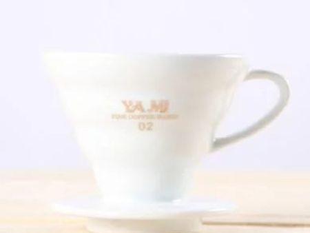 YAMI亚米 V02型陶瓷咖啡滤杯 锥型冲杯 滴滤杯 手冲咖啡滤杯