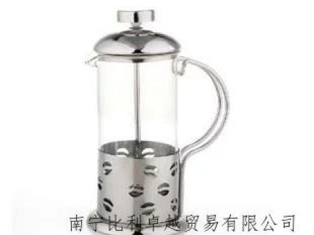 不锈钢 咖啡法压壶 玻璃冲茶器 咖啡过滤器 家用 350cc
