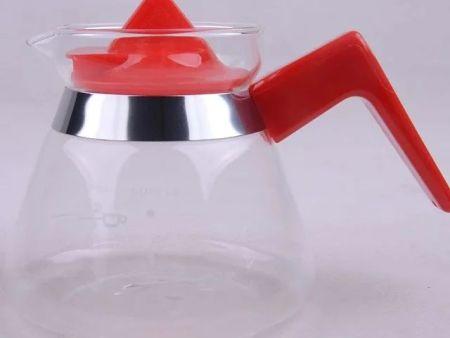 耐热玻璃分享壶 手冲滴滤黑色小可爱壶/咖啡滤壶/花茶壶具(400ml)