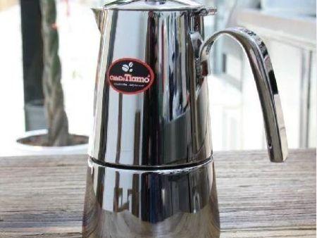 正品Tiamo502不锈钢摩卡壶 意式家用煮咖啡壶4-6人份蒸馏式咖啡壶