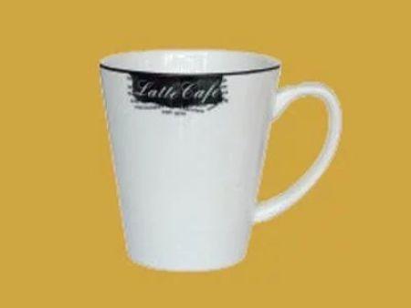 拿铁咖啡杯创意马克陶瓷咖啡杯黑色边马克杯220ml
