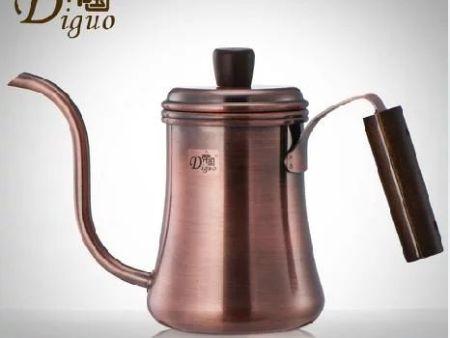 帝国700ml古铜色细口壶手冲壶泡煮咖啡壶长嘴宫廷壶水壶大师款