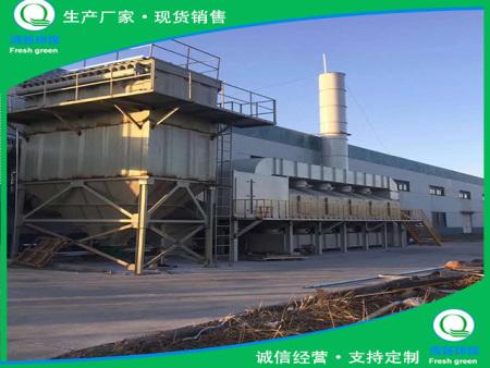 山东滨州钢结构喷漆废气治理项目_RCO吸附浓缩催化燃烧