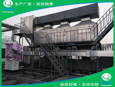 石家庄某机电公司废气处理项目,催化燃烧设备,废气治理改造