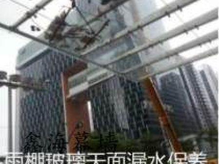 广州幕墙安装雨棚玻璃高难度幕墙玻璃安装