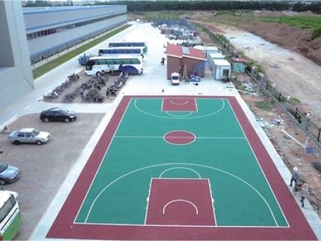 广东硬地丙烯酸篮球场
