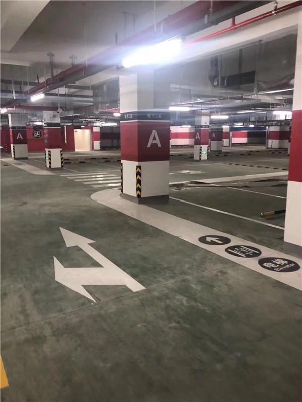 停车场划线涂敷的操作程序