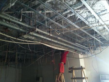南宁尊巢会所HI房天花吊顶隔音工程