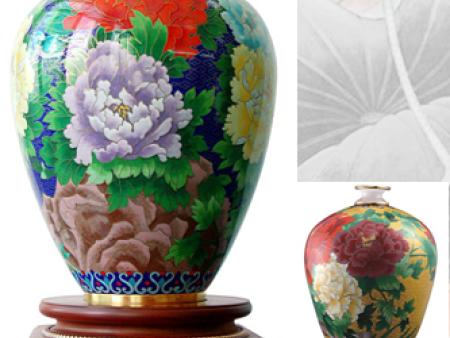 花鸟牡丹花瓶